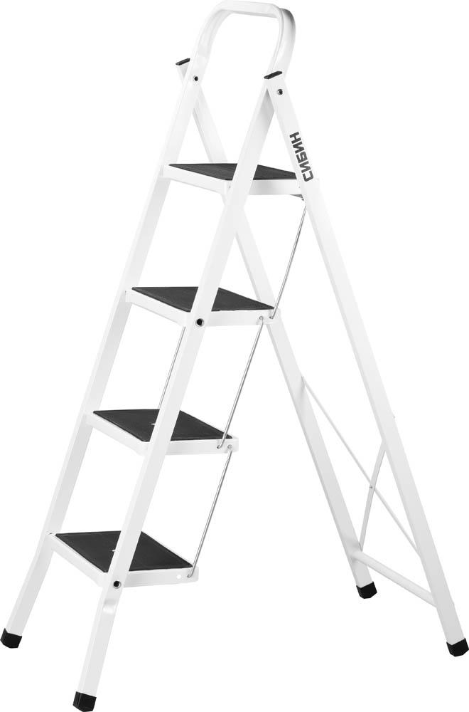 Фото - Стремянка СИБИН 38807-04 z01 лестница трансформер шарнирная профи 4 секции по 4 ступени 1 алюмет