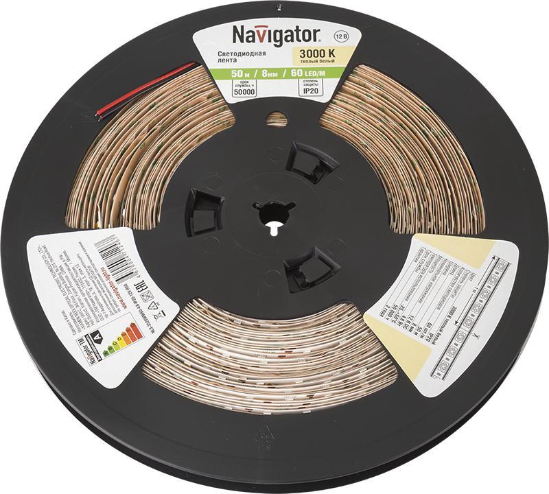Купить со скидкой Лента Navigator 71 246 nls-3528ww60-4.8-ip20-12v-r50