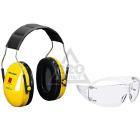 Набор 3М Наушники противошумные Peltor Optime I H510A-401-GU +Очки SecureFit 201 SF201AF-EU