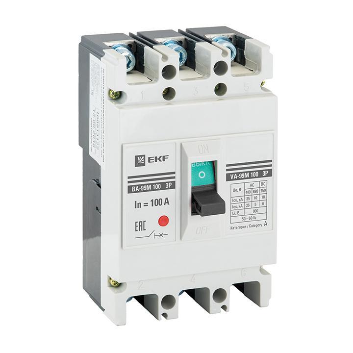 Автомат Ekf Mccb99-100-20m выключатель ekf mccb99 800 800