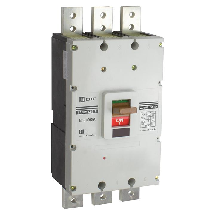Автомат Ekf Mccb99-1250-1000m автомат ekf mccb99 100 100m