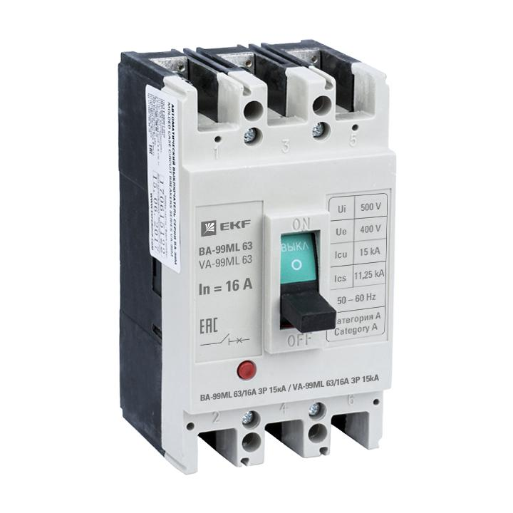 Автомат Ekf Mccb99-63-16mi автомат ekf mccb99 63 50m