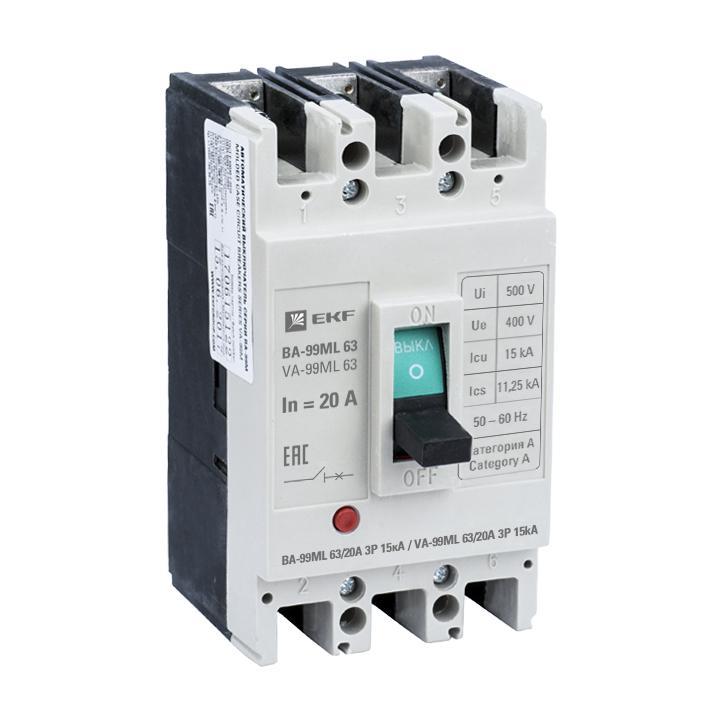 Автомат Ekf Mccb99-63-20mi автомат ekf mccb99 63 50m