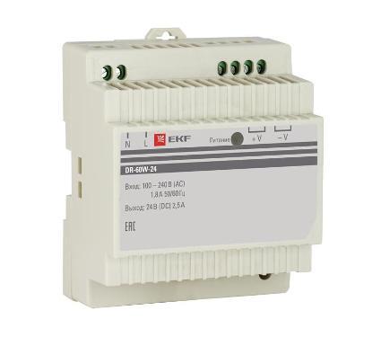 Блок питания EKF DR-60W-24