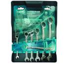 Набор гаечных комбинированных ключей с трещоткой, 7 шт. GROSS 14892