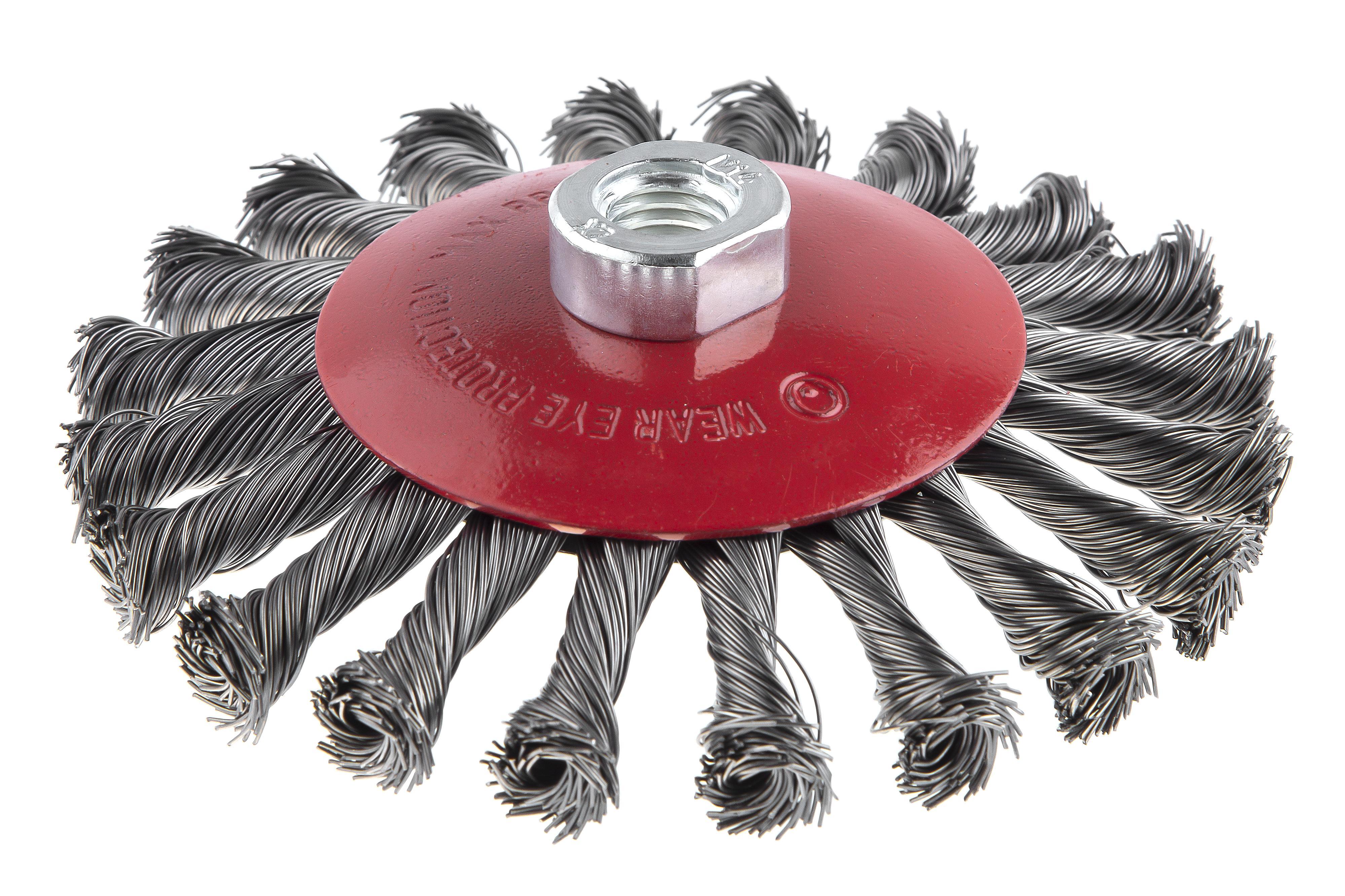 Кордщетка Hammer 207-113 125*0,5*m14 витая жесткая радиальная