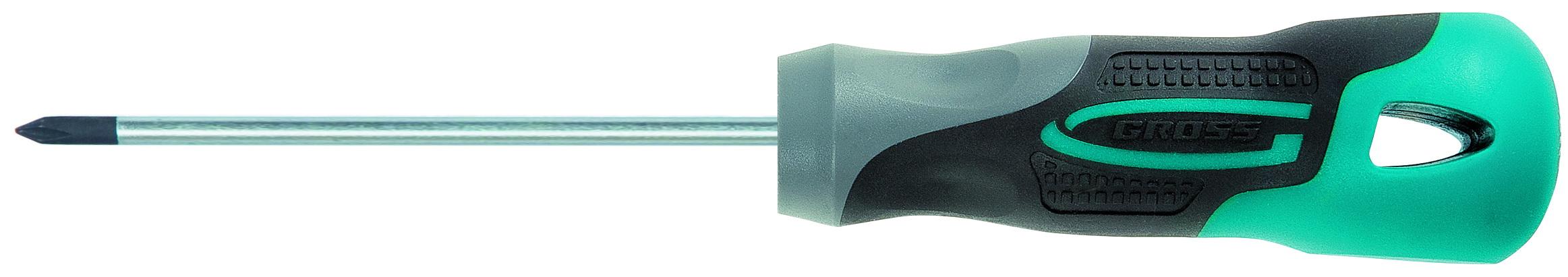 Отвертка крестовая Gross Pz0 x 75 мм отвертка pz3x150 мм gross 12163