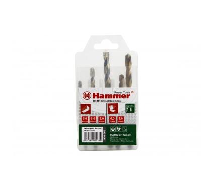 Набор сверл HAMMER подарок DR set No6 (5pcs) 5-8мм