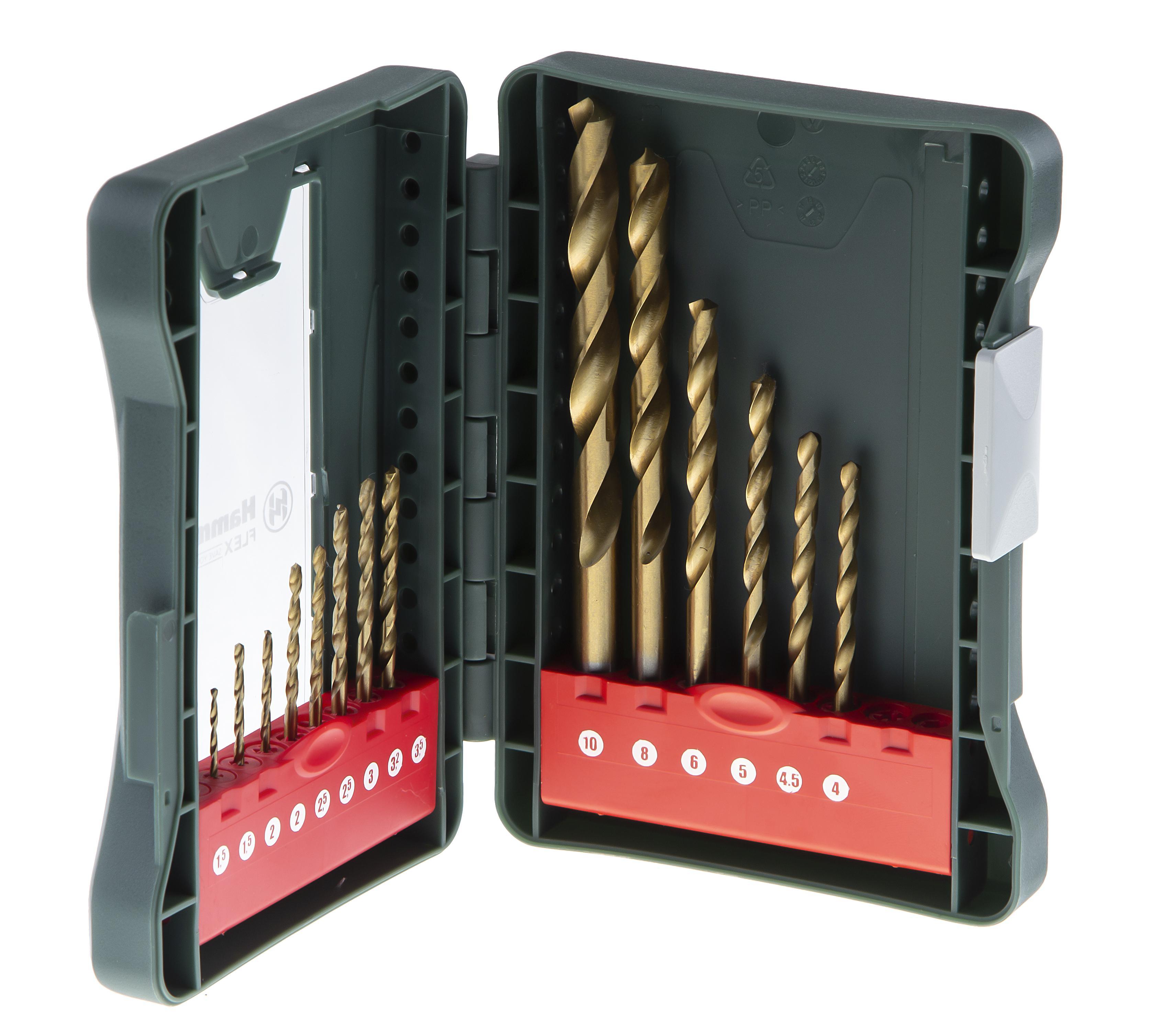 Набор сверл Hammer No18 (15шт.) 1,0-10мм фрезер hammer flex frz1200b