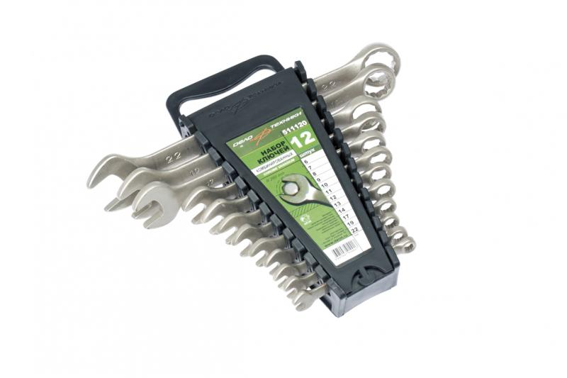 Набор ключей комбинированных ДЕЛО ТЕХНИКИ 511080 набор ключей комбинированных дело техники 515480
