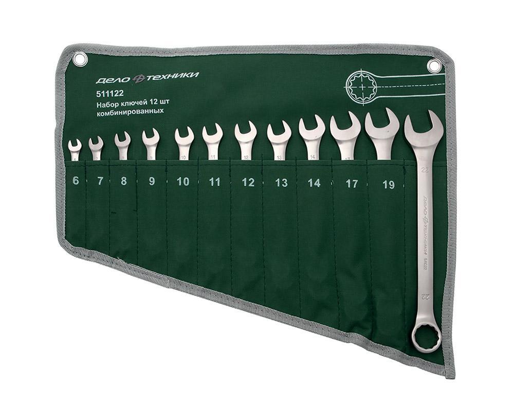 Набор ключей комбинированных ДЕЛО ТЕХНИКИ 511122 набор ключей комбинированных дело техники 515480