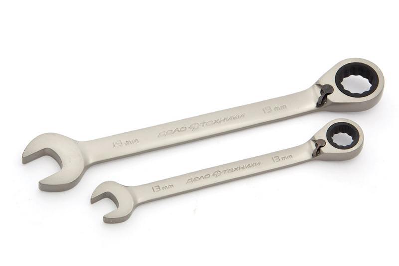 Ключ комбинированный ДЕЛО ТЕХНИКИ 515221 ключ дело техники комбинированный трещоточный 13 мм 515013