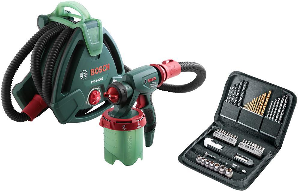 Набор Bosch Краскопульт pfs 5000 e (0.603.207.200) +Набор бит и сверл 1619gx1400 краскопульт bosch pfs 3000 2 [0603207100]