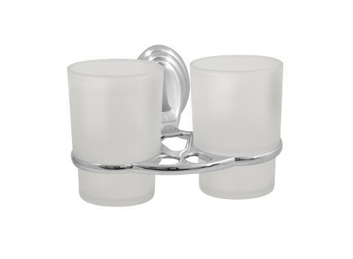 Настенный стакан SOLINNE 2546.101 двойной, стекло
