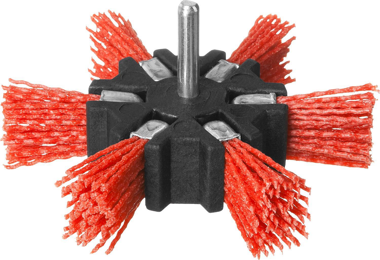 Кордщетка ЗУБР веерная 100мм для дрели нейлон (35163-100_z02)