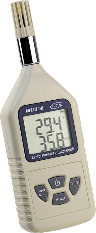 Термогигрометр МЕГЕОН 20060 термогигрометр настольный мегеон 20207 диапазон –50 70 °с погрешность ±1 0°с
