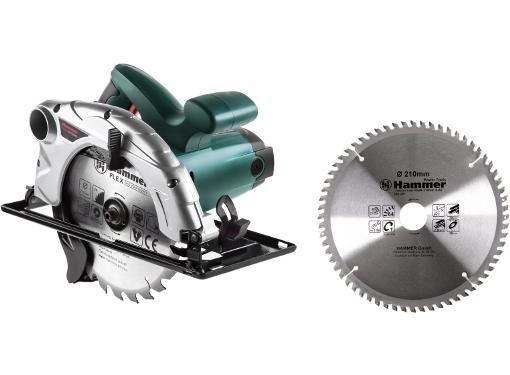 Набор HAMMER Пила циркулярная CRP1800D +Диск пильный твердосплавный 210х30/20мм 64 зуб.