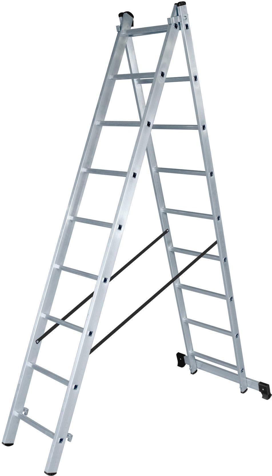 Фото - Лестница ВИХРЬ ЛА 2х9 лестница трансформер шарнирная профи 4 секции по 4 ступени 1 алюмет