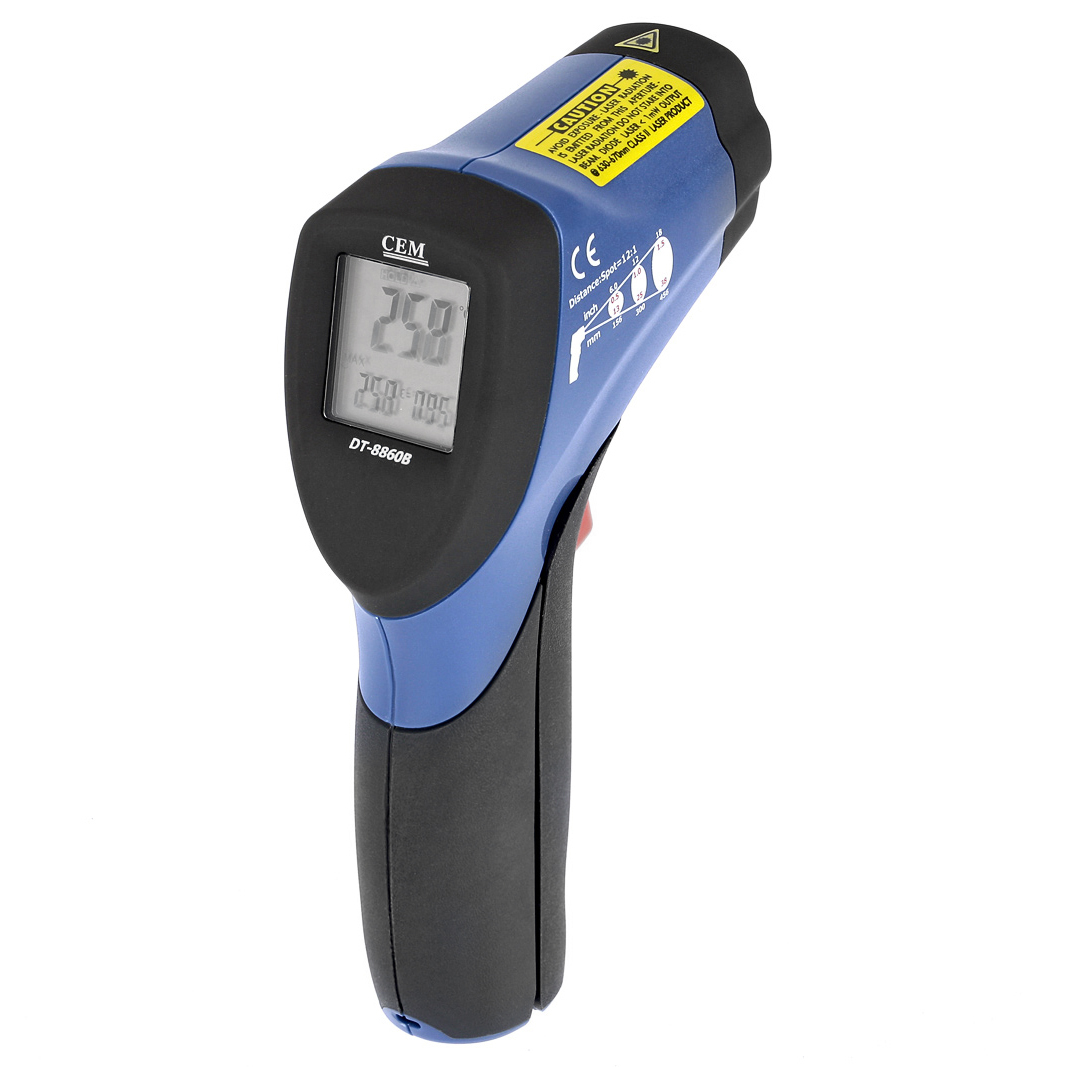Пирометр (измеритель температуры) Cem Dt8860В инфракрасный профессиональный, бесконтактный