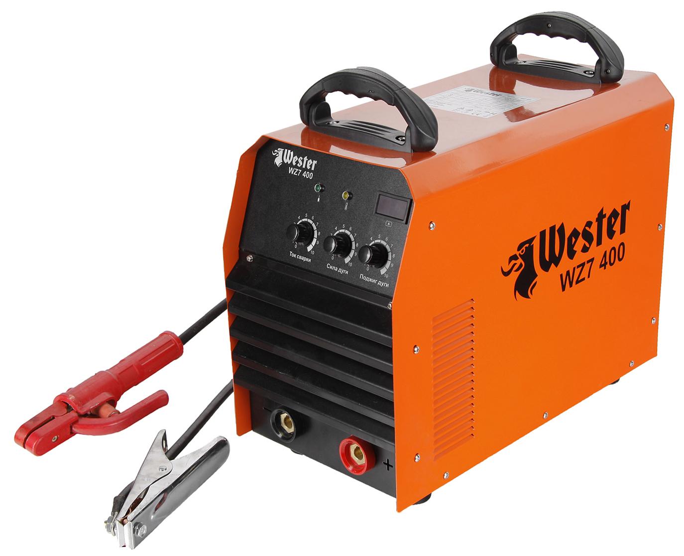 Сварочный инвертор Wester Wz7 400 профессиональный набор wester инвертор сварочный compact 160 маска сварочная wh5 990 023 хамелеон