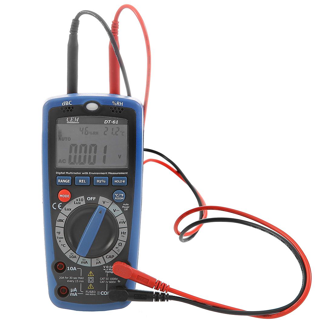 цена на Мультиметр Cem Шумомер Люксметр Термометр Детектор скрытого освещения dt-61