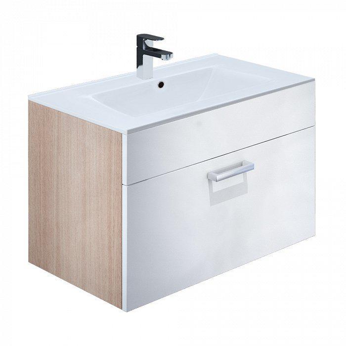Тумба для ванной комнаты с раковиной Iddis Mir80w2i95k тумба для ванной комнаты с раковиной iddis clo80w0i95k