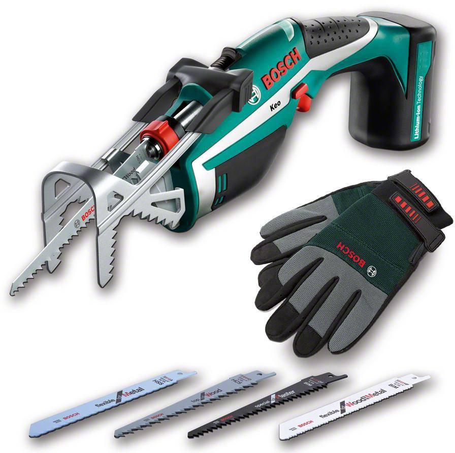 Пила садовая Bosch Keo + перчатки (0600861906)