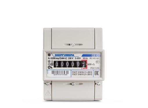 Счетчик электроэнергии ЭНЕРГОМЕРА 88963 СЕ 101 R5 145 М6 1ф 5-60А