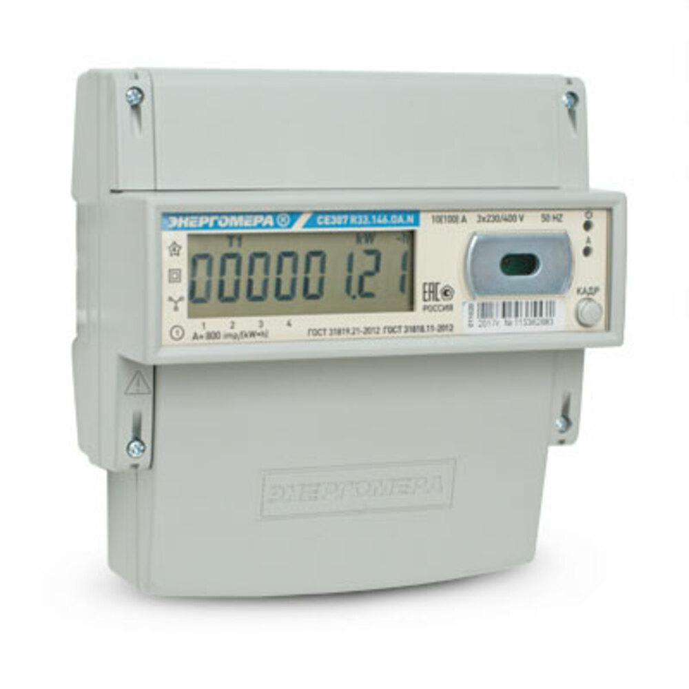 Счетчик электроэнергии ЭНЕРГОМЕРА 478276 СЕ 307 r33 145.oa.n 3ф 5-60А счетчик электрической энергии энергомера цэ6803в 1 3ф 5 60а 230в 1 класс точности 1 тарифный 4пр m7p31 din рейка 101003001011074