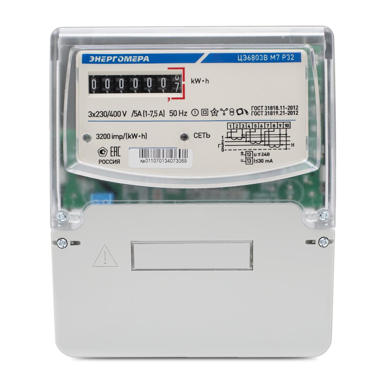 Счетчик электроэнергии ЭНЕРГОМЕРА 151701 ЦЭ-6803В 1 3ф 5-60А 230В счетчик электрический трехфазный однотарифный цэ6803в 60 5 т
