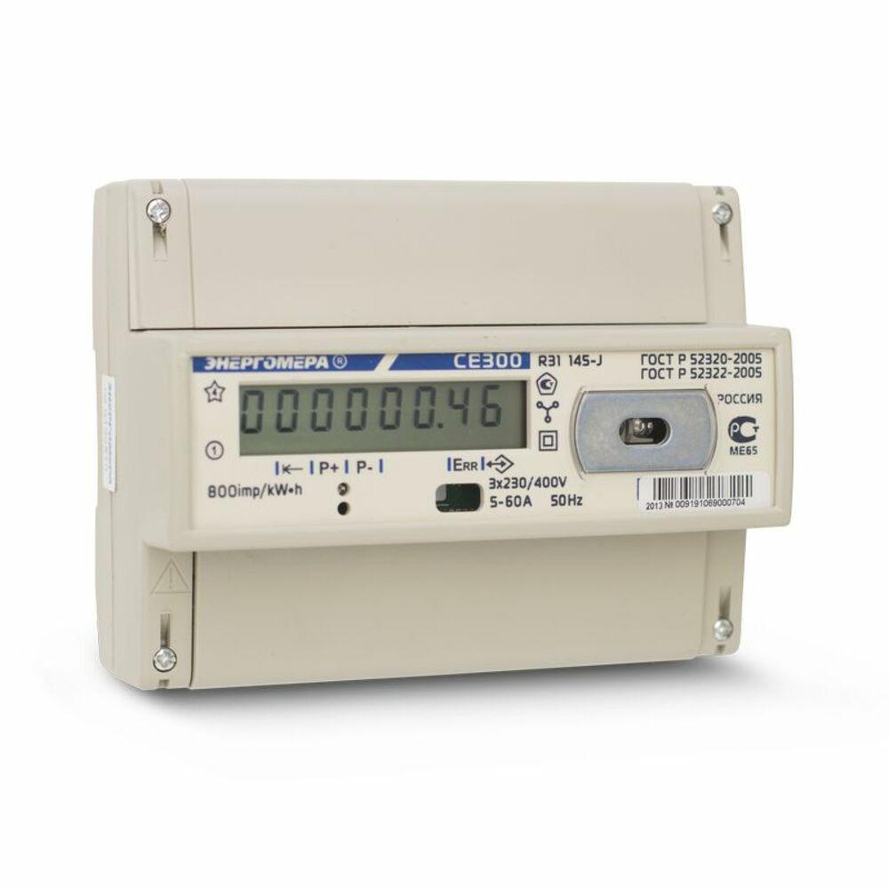 Счетчик электроэнергии ЭНЕРГОМЕРА 91913 СЕ 300 r31 146-j 1т. 3ф 5-100А 230/400В