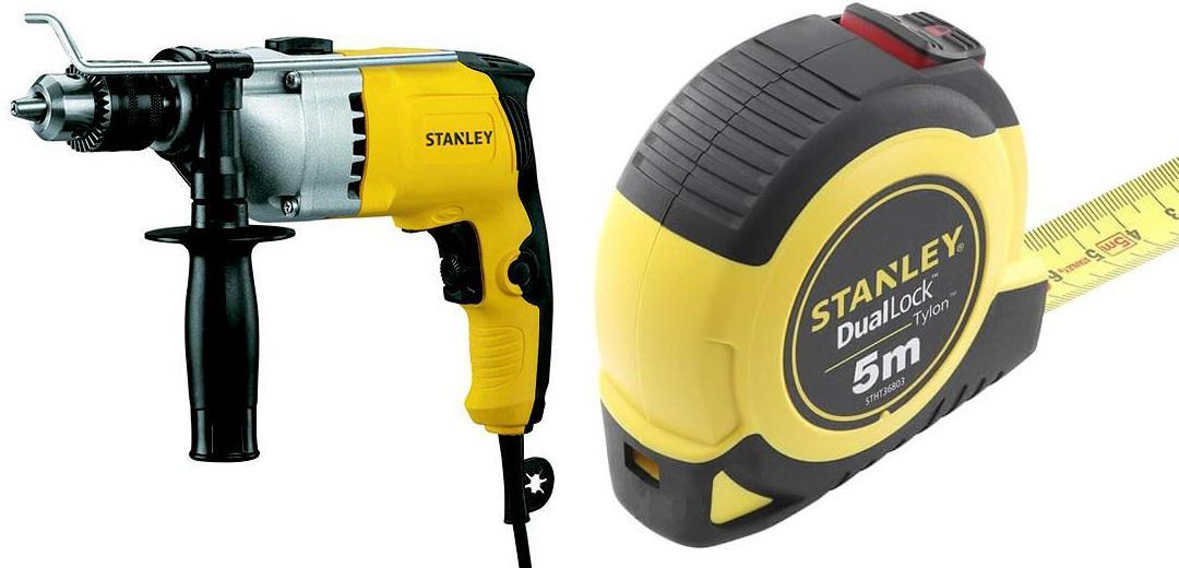 Набор Stanley Дрель ударная stdh8013-ru +Рулетка stht36803-0 цена