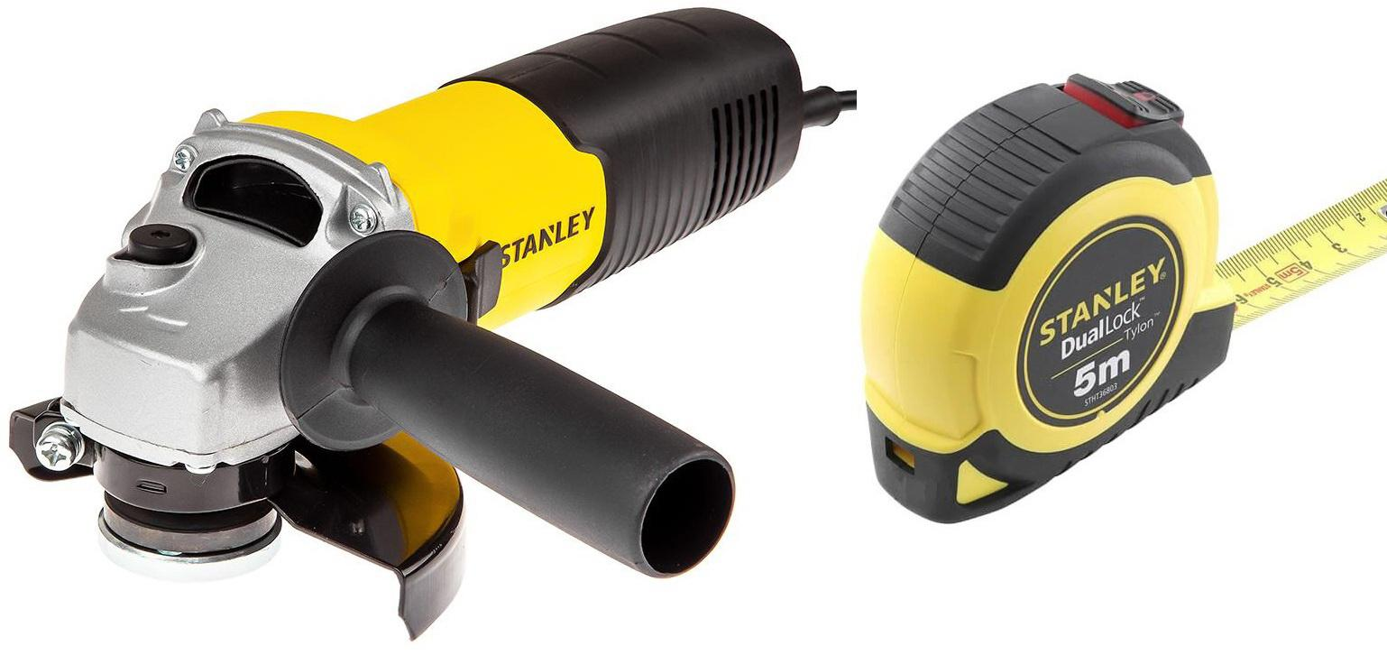 Набор Stanley УШМ (болгарка) stgs7115-b9 +Рулетка stht36803-0 набор stanley ушм болгарка stgs7115 b9 рулетка dwht033662