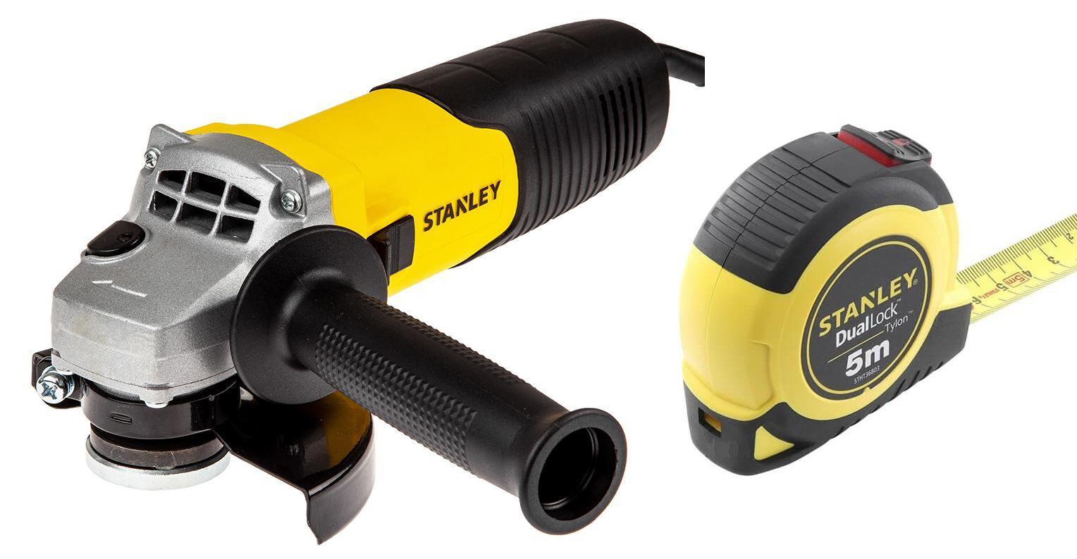 Набор Stanley УШМ (болгарка) stgs9115-b9 +Рулетка stht36803-0 набор stanley ушм болгарка stgs7115 b9 рулетка dwht033662