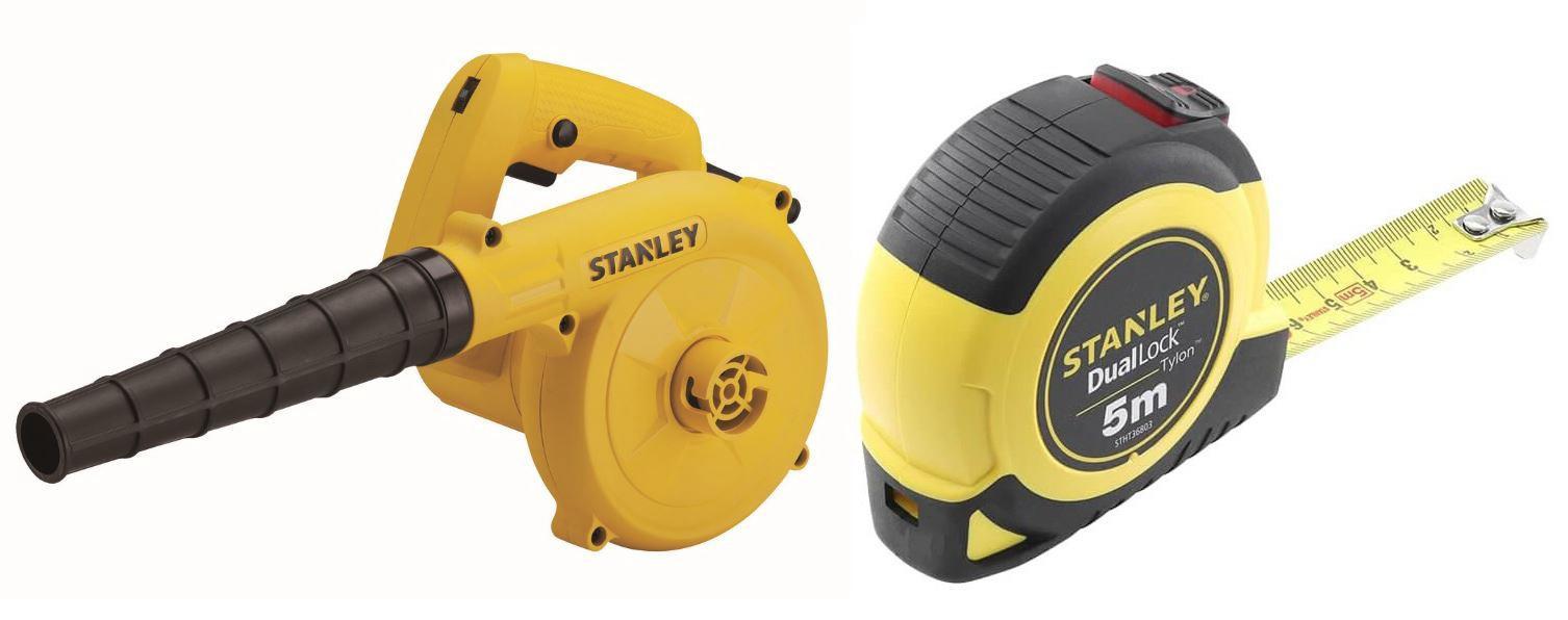 Набор Stanley Воздуходувка stpt600-b9 +Рулетка stht36803-0 набор stanley ушм болгарка stgs7115 b9 рулетка dwht033662