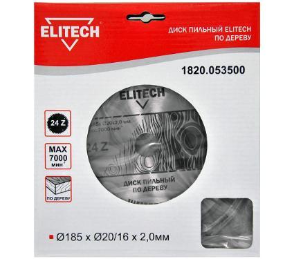 Диск пильный ELITECH Ф185х20мм 24зуб. (1820.053500)
