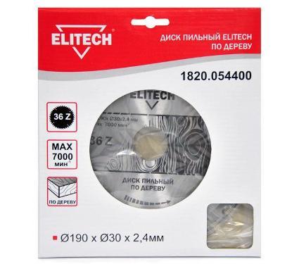 Диск пильный ELITECH Ф190х30мм 36зуб. (1820.054400)