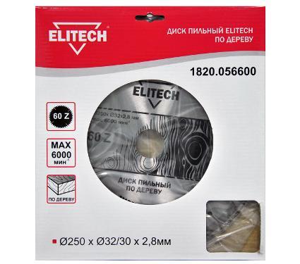 Диск пильный ELITECH Ф250х32мм 60зуб. (1820.056600)