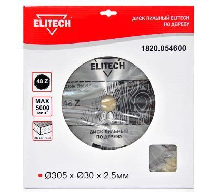 Диск пильный ELITECH Ф305х30мм 48зуб. (1820.054600)