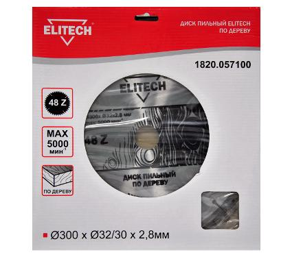 Диск пильный ELITECH Ф300х32мм 48зуб. (1820.057100)