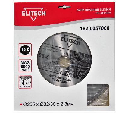 Диск пильный ELITECH Ф255х32мм 96зуб. (1820.057000)