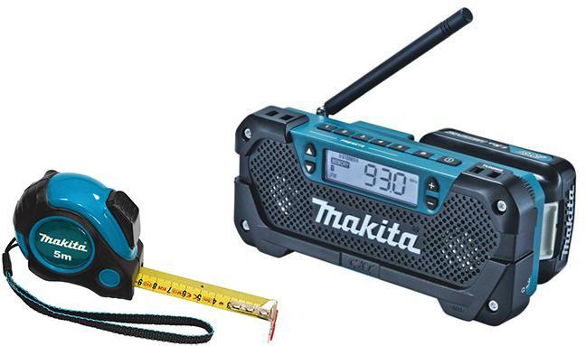 Набор Makita Радио mr052 186740 +Рулетка pgc-80520 радио makita mr052 186740 10 8в li ion слайдер fm am 0 5кг mp3 соединение вход aux б акк и з у