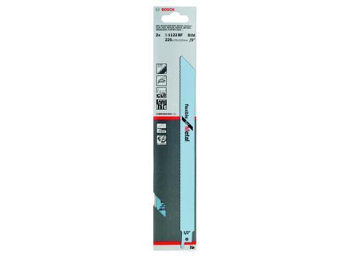 Полотно для сабельной пилы BOSCH 225мм, TPI 14, BIM, 2шт/уп (S 1122 BF 2608656041)