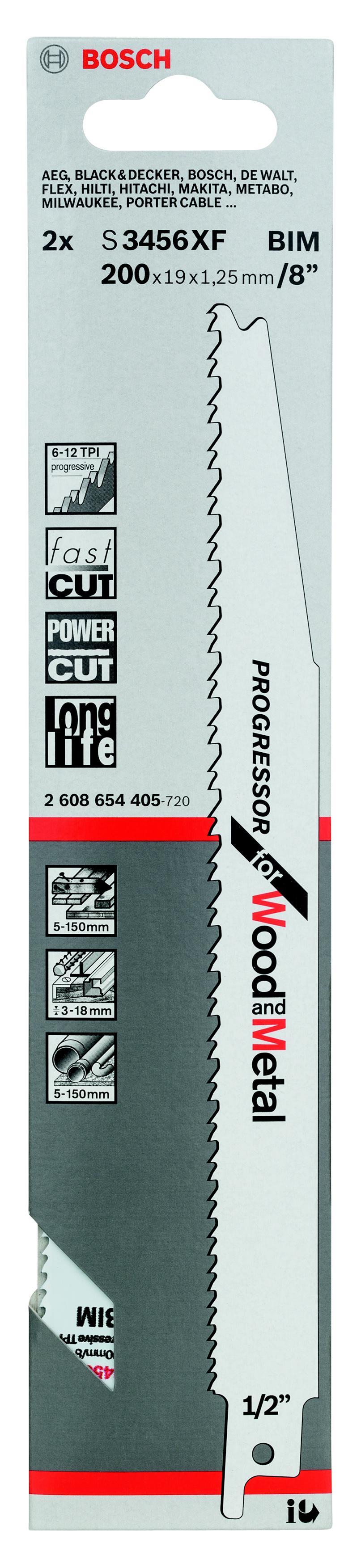 Купить Полотно для сабельной пилы Bosch S 3456 xf (2.608.654.405), Германия