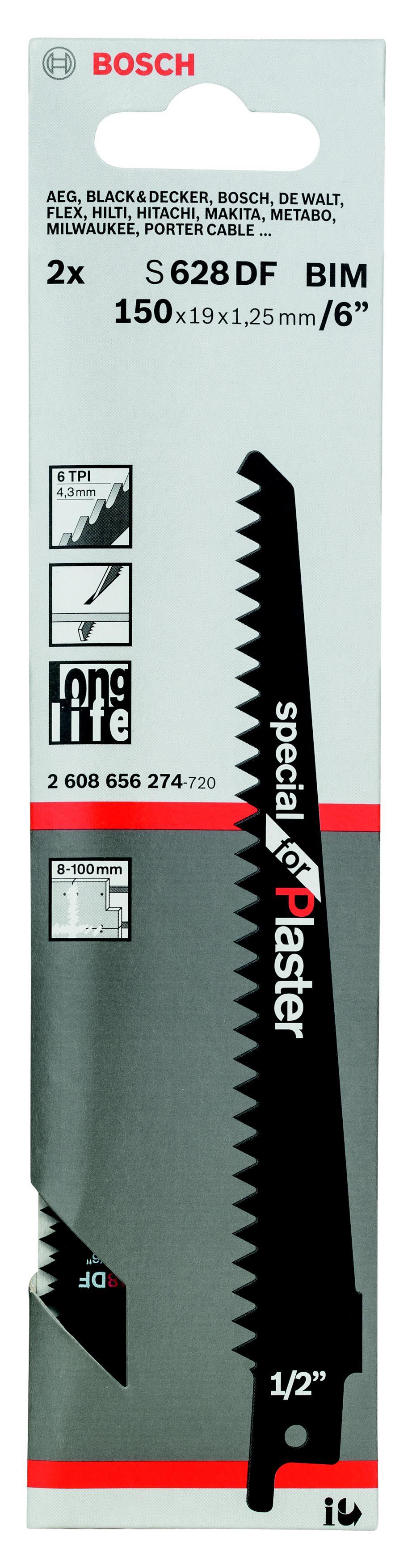 Полотно для сабельной пилы Bosch S 628 df (2.608.656.274) jamo s 628