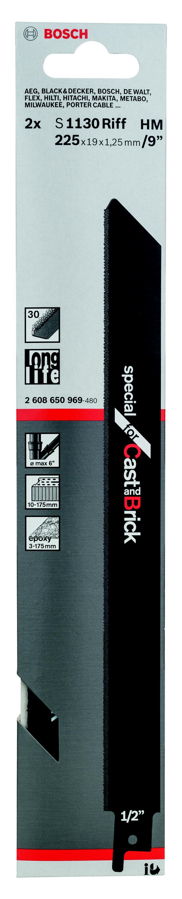 Полотно для сабельной пилы Bosch S 1130 riff (2.608.650.969) недорго, оригинальная цена