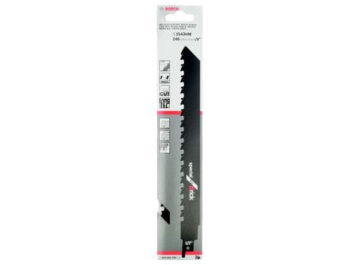 Полотно для сабельной пилы BOSCH 240мм, TPI 2, НМ, 1шт/уп (S 1543 HM 2608650354)