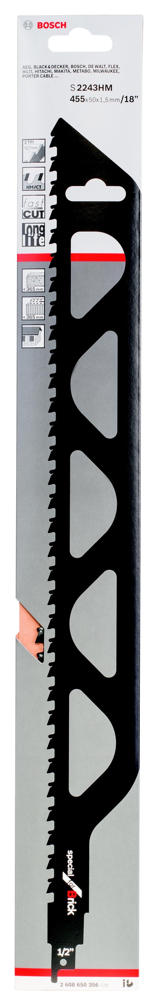 Купить Полотно для сабельной пилы Bosch S 2243 hm (2.608.650.356), Германия