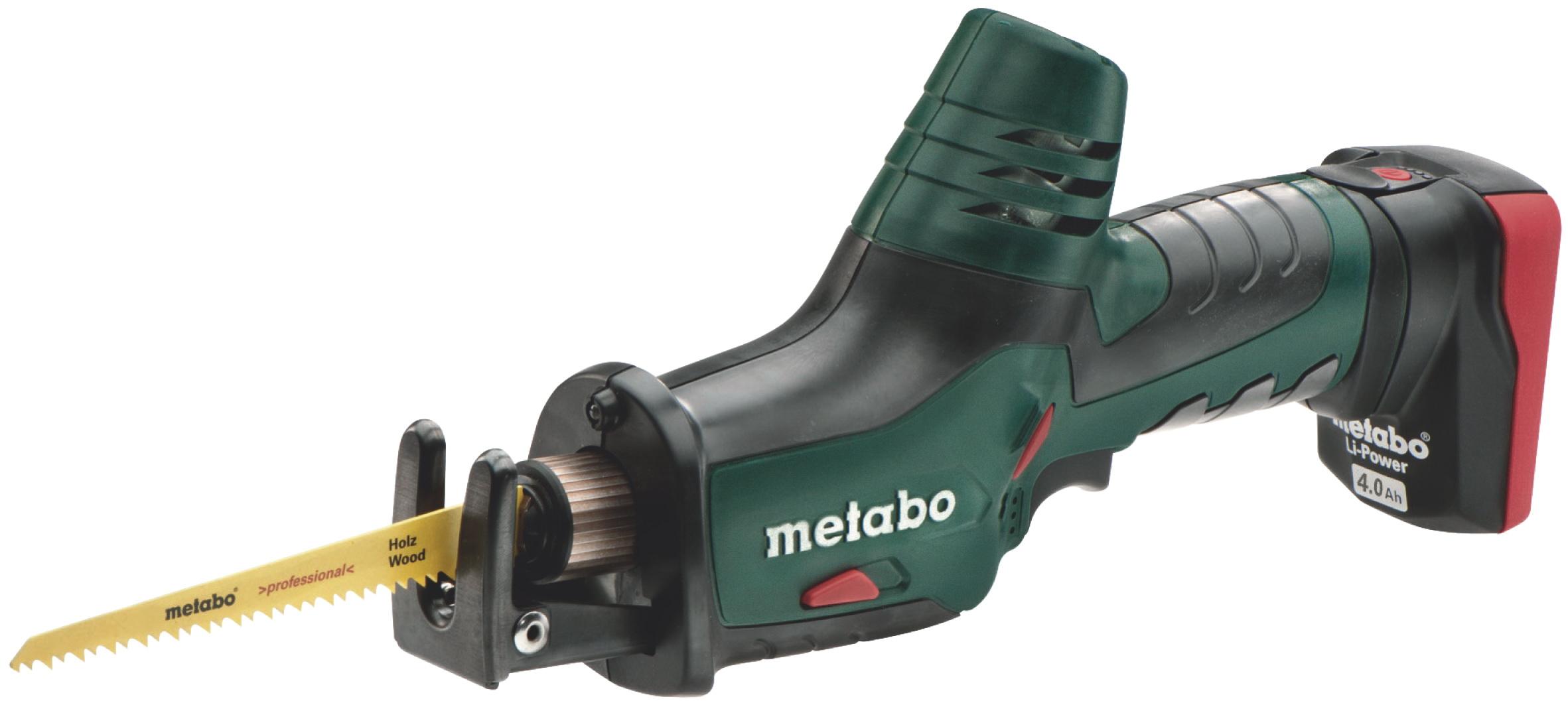 Аккумуляторная ножовка Metabo Powermaxx ase 4.0 (602264750) аккумуляторная ножовка metabo ase 18 ltx 602269610