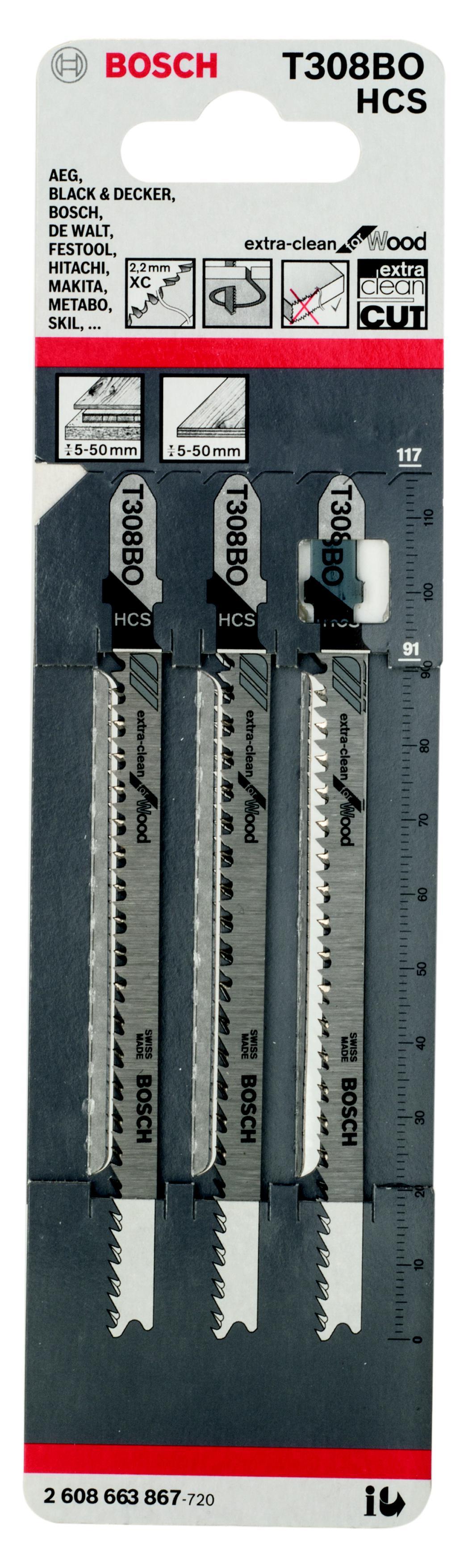 Пилки для лобзика Bosch T308bo (2.608.663.867) песни для вовы 308 cd
